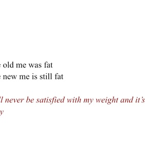 fat, words and sad