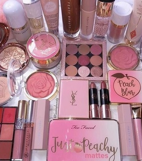 pink, eyeshadow and girly