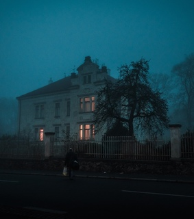 Houses, haunted and outside