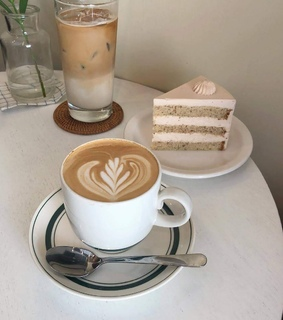 cake, cafe and aesthetic