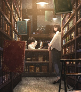 anime, beautiful and books
