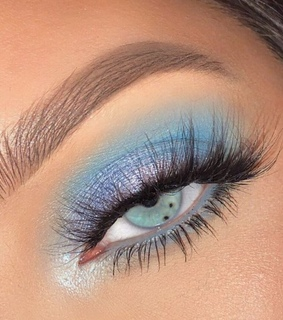 blue eyeshadow, aesthetic and brows