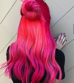 black, styles and pink hair
