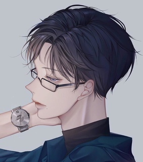 cartoon, glasses and guy