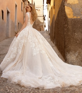 ball gown, wedding and gown