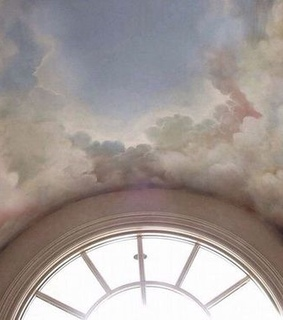 pink, ceiling and painting
