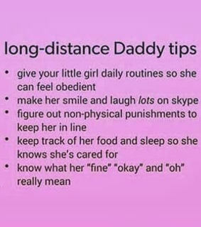 baby girl, daddy and long distance