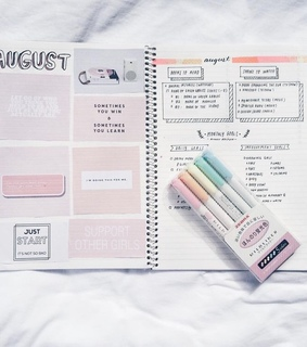 weekly spread, study and organization