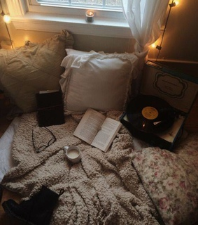 bedroom, book and bed