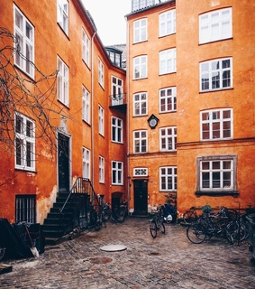 building, orange and denmark