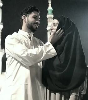 hijab, islam and couple