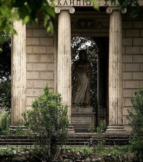 Temple, Greece and ionic columns