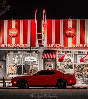 cars, restaurants and cocacola