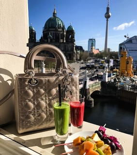 girls, bags and juice