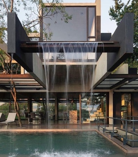 luxe, pool and architecture