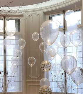 bday, clear balloon and luxury