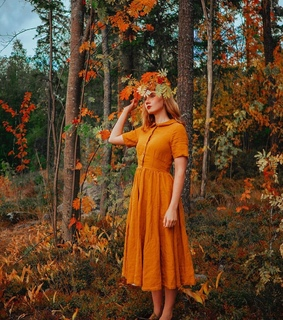 forest girl, fall and mori fashion