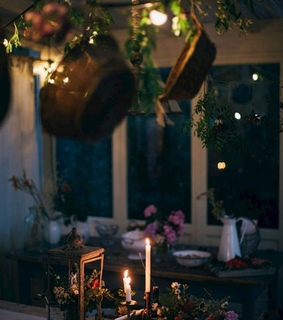 candles, plants and herbalism
