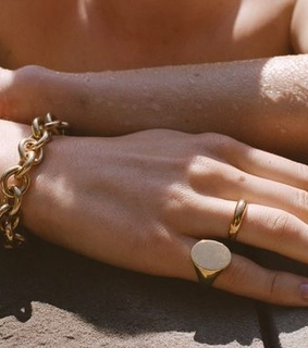 ring, gold and hand