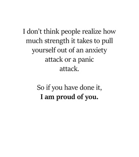 proud, depression and panic attack