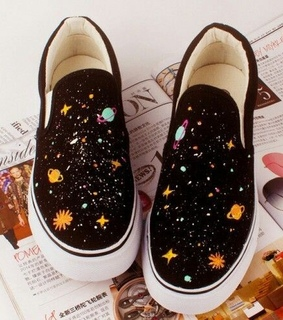 shoes, black and galaxy