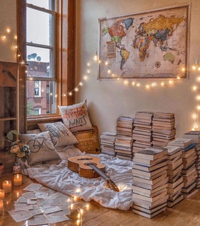room decor, house and books