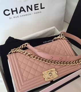 luxury, purse and pink