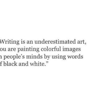 writing, painting and text