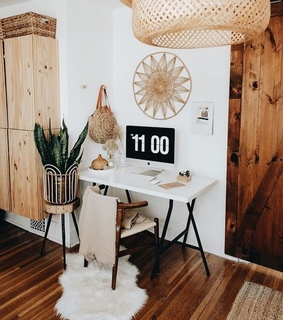 boho, decoration and desk