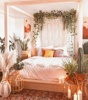 decoration, interior design and plants