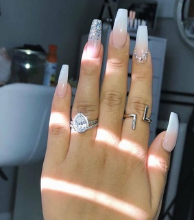 tumblr, nails and acrylic nails