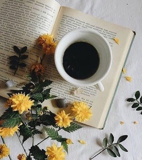 Paper, coffee and flores