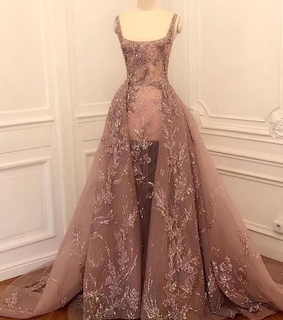 luxury, pinkdress and glamour