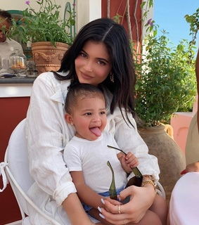 mom, stormi and webster