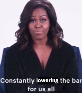 reaction picture, michelle obama and obama