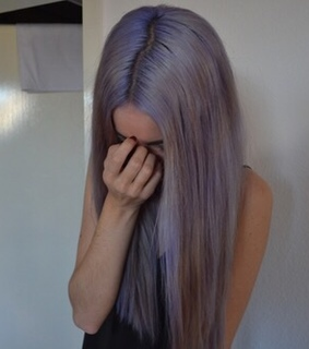color, hair and violet