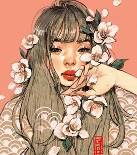 draw, pink and flowers