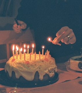 candles, birthday and cake