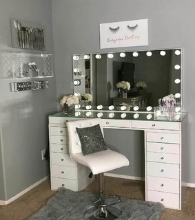 mirror, room and girly