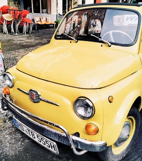 vintage, yellow and cars