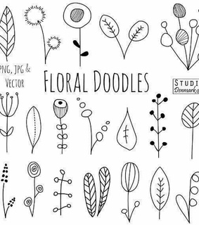 doodles, journal ideas and floral doodles