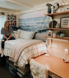 dorm, inspiration and college