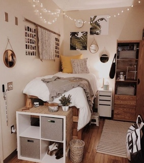 dorm, boho and college