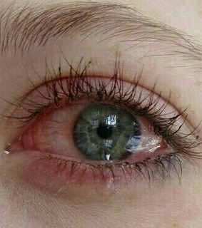 crying, eyes and green eyes