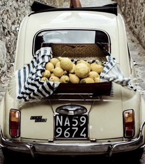 italy, car and lemons