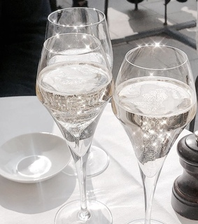 champagne, drink and wine