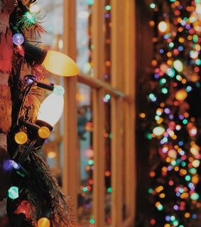 color, holiday and colored lights