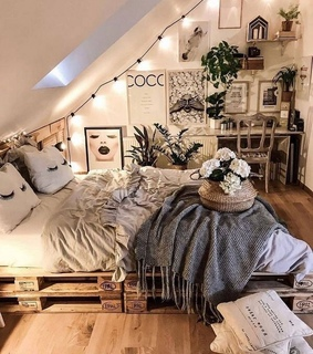 apartment, bohemian style and room