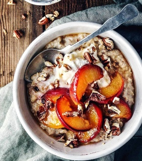 food porn, oats and delicious