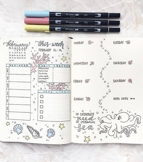 organization, school and habit tracker